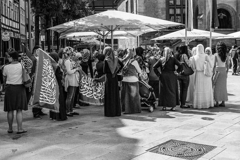 """Göttingen, Am Markt - """"Für Gaza"""" Demonstrantinnen"""