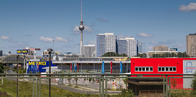 Berlin, depuis la Warschauerstrasse