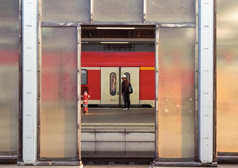 Bremen, Hauptbahnhof, Selbstporträt